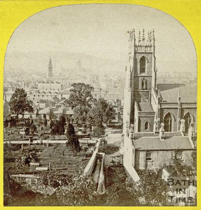 St. Mark's Church and burial ground, Widcombe, Bath c.1865