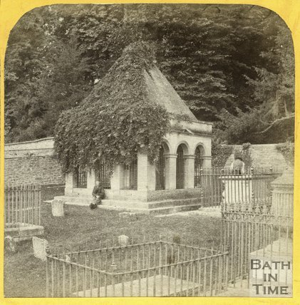Ralph Allen's Mausoleum, St. Mary's Church, Claverton c.1863
