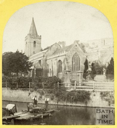 Holy Trinity Church And River Avon, Bradford-on-Avon 1863