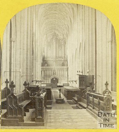 Interior of St. Mary Redcliff Church, Bristol c.1865