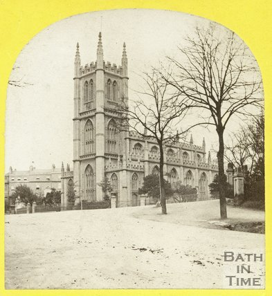 St Mary's church, Bathwick, Bath, August 1863