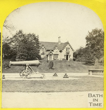 Park Dairy and canons, Royal Victoria Park, Bath, c.1865