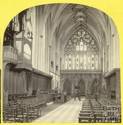 Inside Bristol Cathedral, August 1863