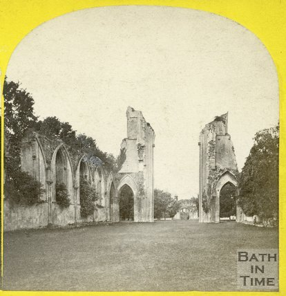 Glastonbury Abbey, Somerset, c.1865