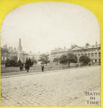 Queen Square, Bath, c.1868
