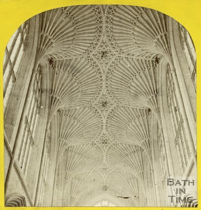 The vaulted ceiling of Bath Abbey, Bath c.1868