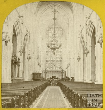 Interior of Bath Abbey, Bath c.1868