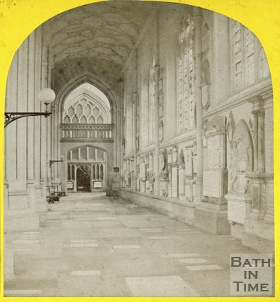 South Aisle , Bath Abbey, looking east, c.1863