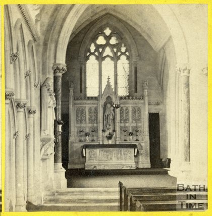 Interior of the Church of St. Mary the Evangelist, Bath c.1865