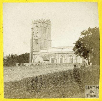 Unidentified Church, near Bath? c.1865