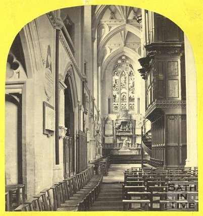 North Aisle, Bristol Cathedral 1863