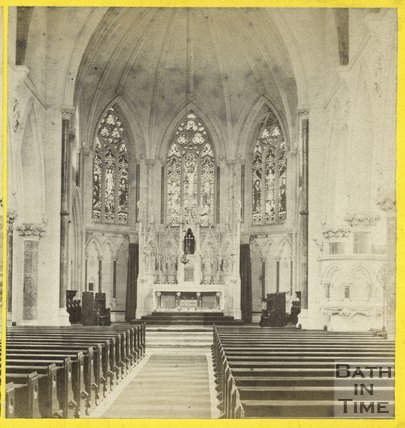 Interior of the Church of St. John the Evangelist, Bath c.1865