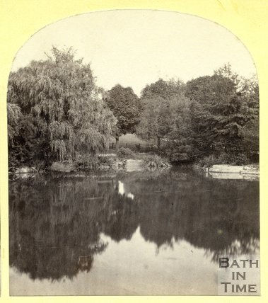 The lake at Royal Victoria Park, Bath c.1870