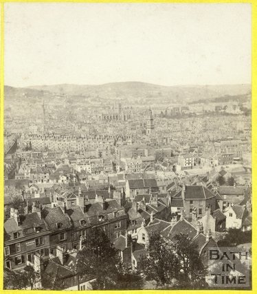 Bath from Beechen Cliff c.1870