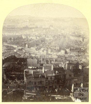 Bath from Beechen Cliff c.1870
