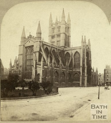 Bath Abbey from Orange Grove, Bath c.1870