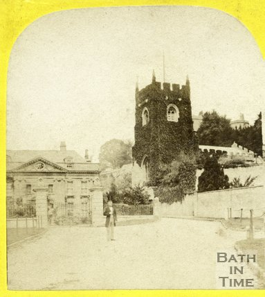 Widcombe Manor and church, Widcombe, Bath c.1870