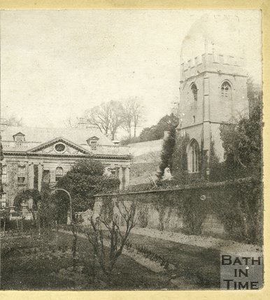 Widcombe Manor and church, Bath c.1870