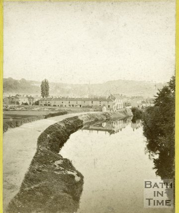 Ferry Lane and the riverbank, Dolemeads, Bath c.1870