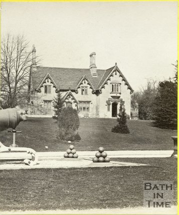 Dairy Farm and cannon at Royal Victoria Park, Bath c.1872