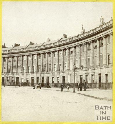 The Royal Crescent, Bath, c.1865