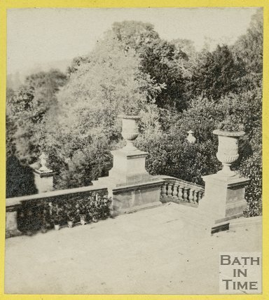 The terrace at Prior Park, Widcombe, Bath c.1870