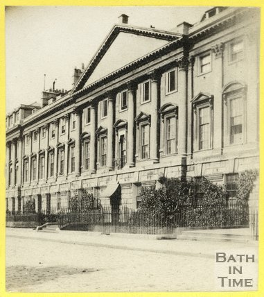 The north side of Queen Square, Bath, c.1870