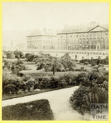 Institution (now Parade) Gardens and North Parade, Bath c.1863
