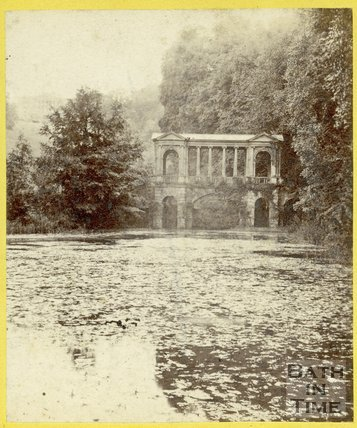 The Palladian Bridge at Prior Park, Widcombe, Bath 1863