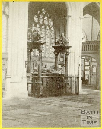 Bishops Montague's Tomb, Bath Abbey, August 1863