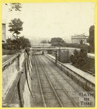 The Great Western Railway passing through Sydney Gardens, Bath 1863