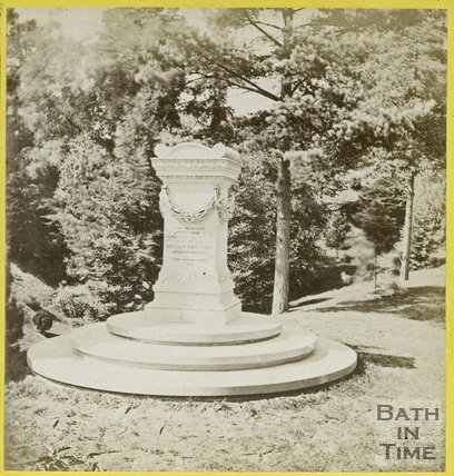 Shakespeare's Monument, The Great Dell, Botanical Gardens, Royal Victoria Park, Bath 1864