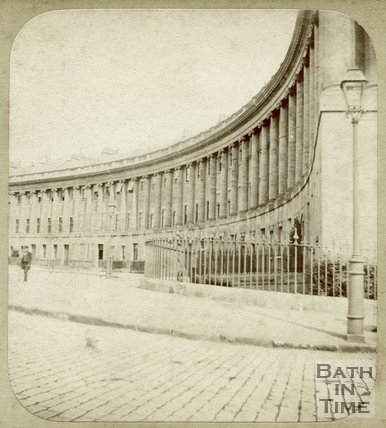 The Royal Crescent, Bath, c.1859