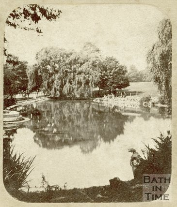 The lake, Royal Victoria Park, Bath c.1859
