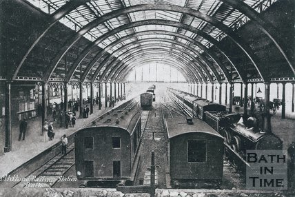 Midland Railway Station, Green Park, Bath, c.1905
