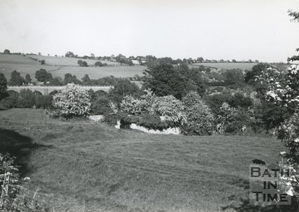 View towards the viaduct at Midford, near Bath, c.1960