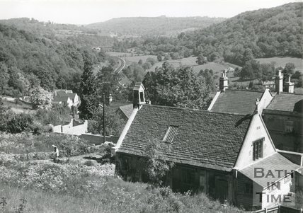 View over Upper Limpley Stoke towards Dundas Aqueduct, c.1960