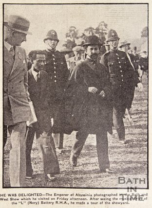 Haile Selassie at the Bath & West Show, May 1937