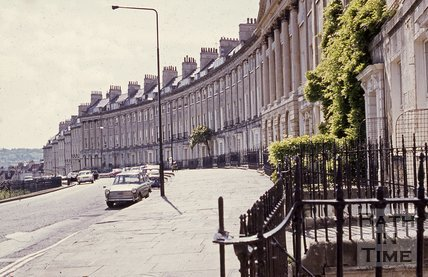 Camden Crescent, Bath, looking south west, c.1960s