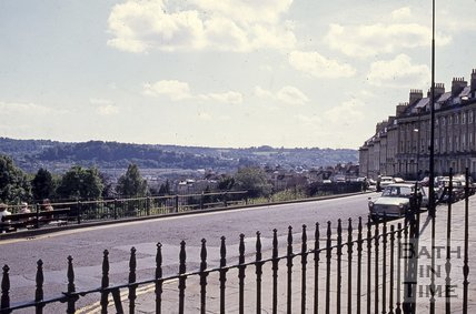 Camden Crescent, Bath, looking south , c.1960s