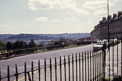 Camden Crescent, Bath looking south, c.1960s