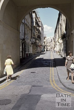 Queen Street viewed from Trim Street, Bath, c.1970s