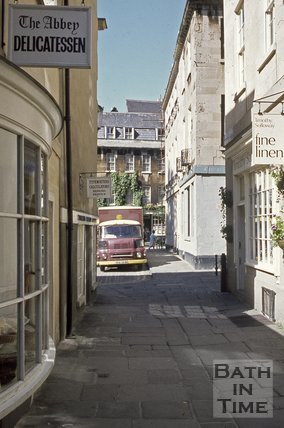 North Parade Passage looking towards Abbey Green, Bath, c.1970s