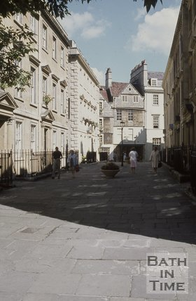 North Parade Buildings, Bath looking north east, c.1970s