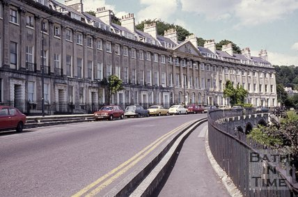 Camden Crescent, Bath looking north east, c.1970s