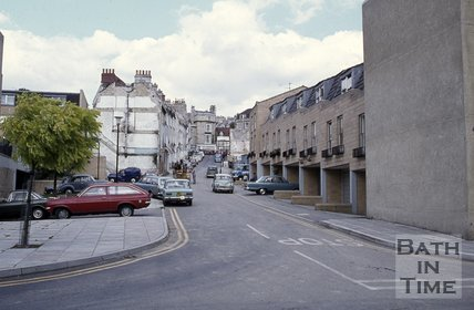 Morford Street, Bath looking north to Lansdown Road, late 1970s