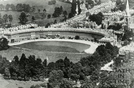 Aerial view of the Royal Crescent, Bath, c.1930