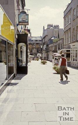 Margaret's Buildings looking south towards Brock Street, Bath, c.1980s