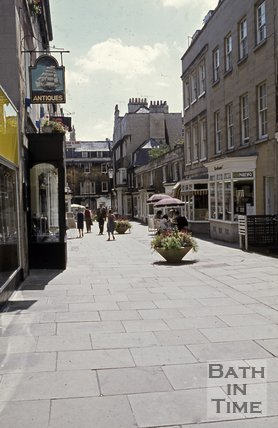 Margaret's Buildings looking south towards Brock Street, Bath, c.1980s