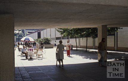 Pedestrian way along the side of the Southgate shopping precinct, Bath, c.1975